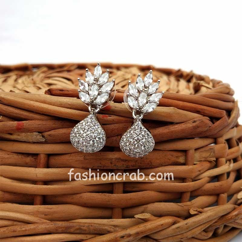 Cubic Zirconia Drop Earrings for Wedding