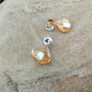 Light Yellow Crystal Earrings