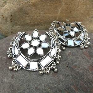 Afghani Mirror Earring for Girls