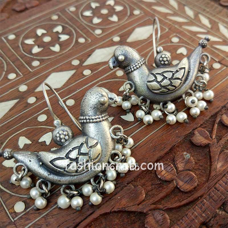 Cute German Silver Bird Earring