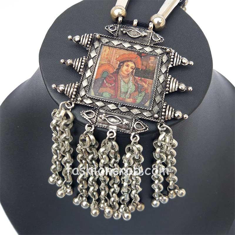 Digital Print Antique Maharani Necklace Set