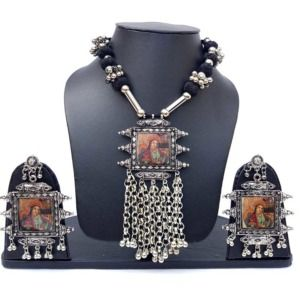 Digital Print Antique Maharani Necklace Set