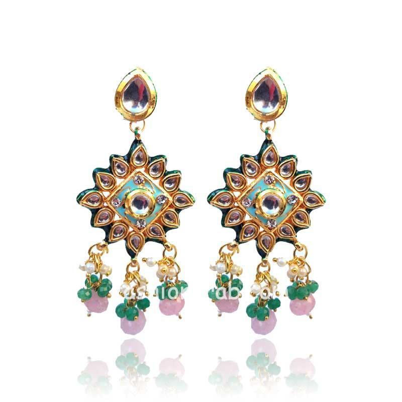 Designer Kundan Meenakari Necklace Set