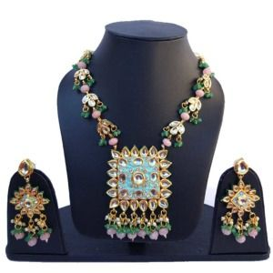 Designer Kundan Meenakari Necklace Set