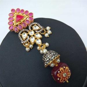 Maroon Colour Bridal Jewellery Set for Wedding