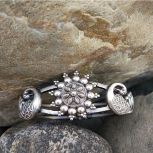 Silver Look Alike Adjustable Bracelet for Party