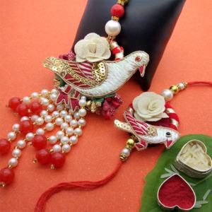 Beautiful Bird Lumba Rakhi Set