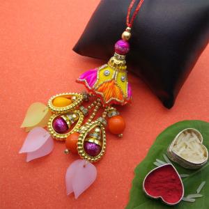 Designer Lumba Rakhi for Bhabhi