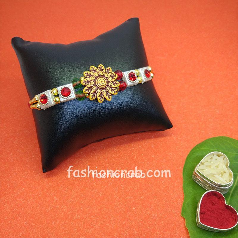 Floral Designer Rakhi for Brother