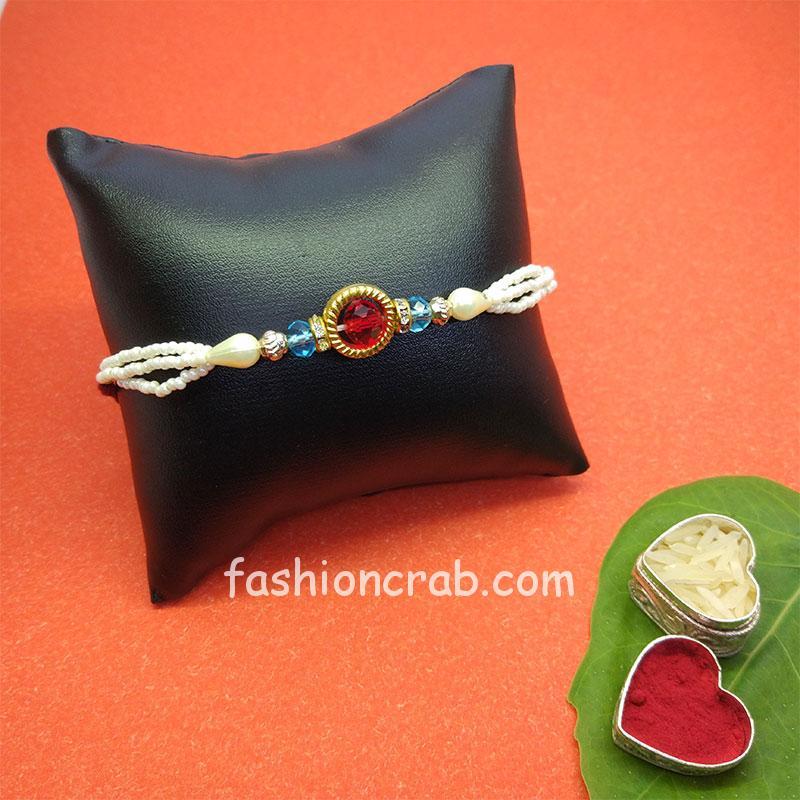 Handmade Pearl Rakhi