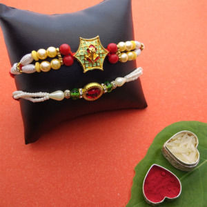 Pearl Fancy Rakhi Set of 2