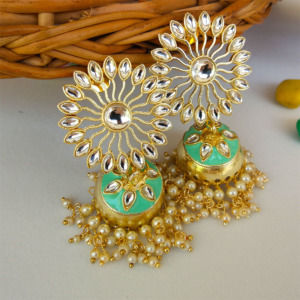 Sea Green Traditional Wedding Jhumka