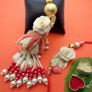 Traditional Pearl Lumba Rakhi Set