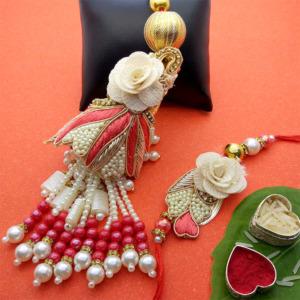 Traditional Pearl Lumba Rakhi Set