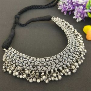 Ghunghroo Choker Necklace Set for Women