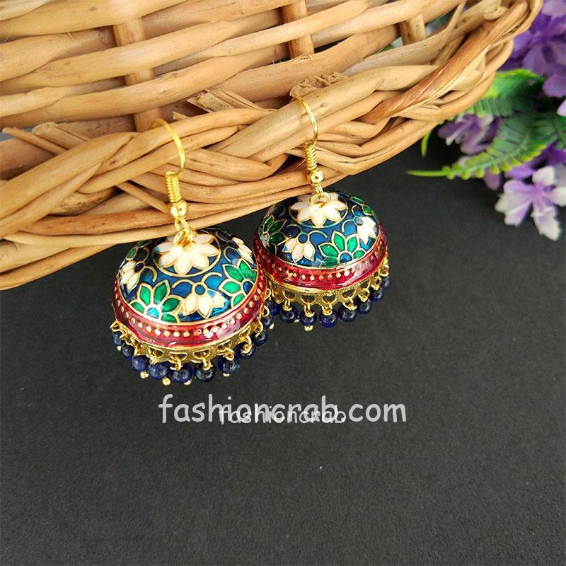 Blue Pearl Small Jhumki Earring