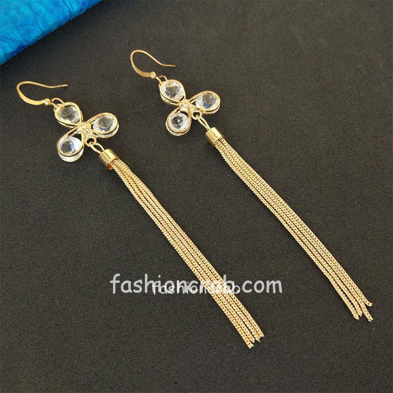Golden Chain Earrings for Women