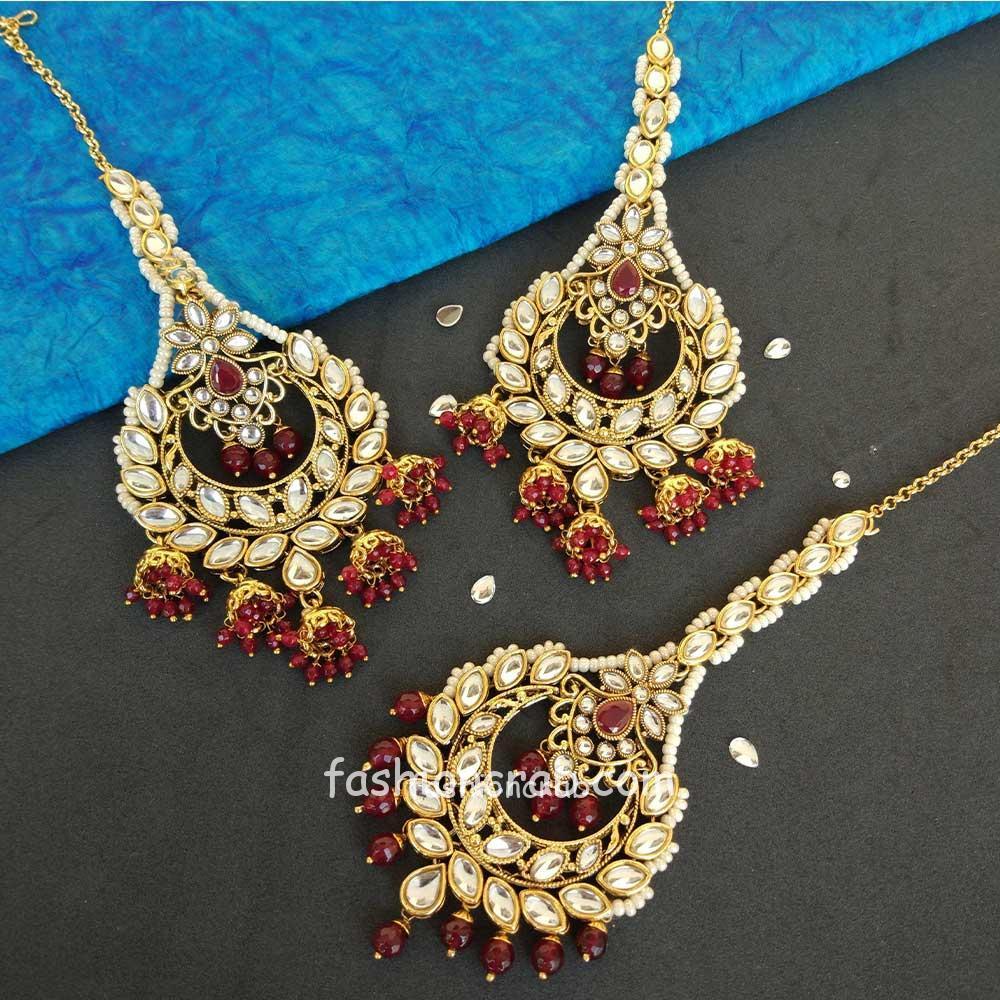 Maroon Fine Art Jewelry made by hand Peach Earrings