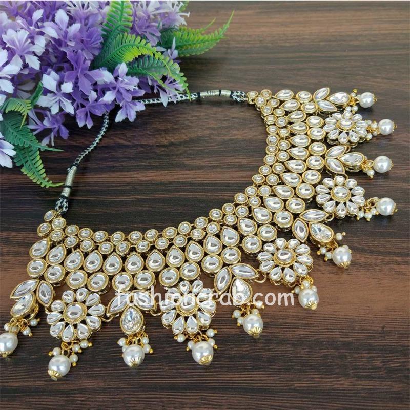 Pearl Kundan Jewellery Set for Wedding