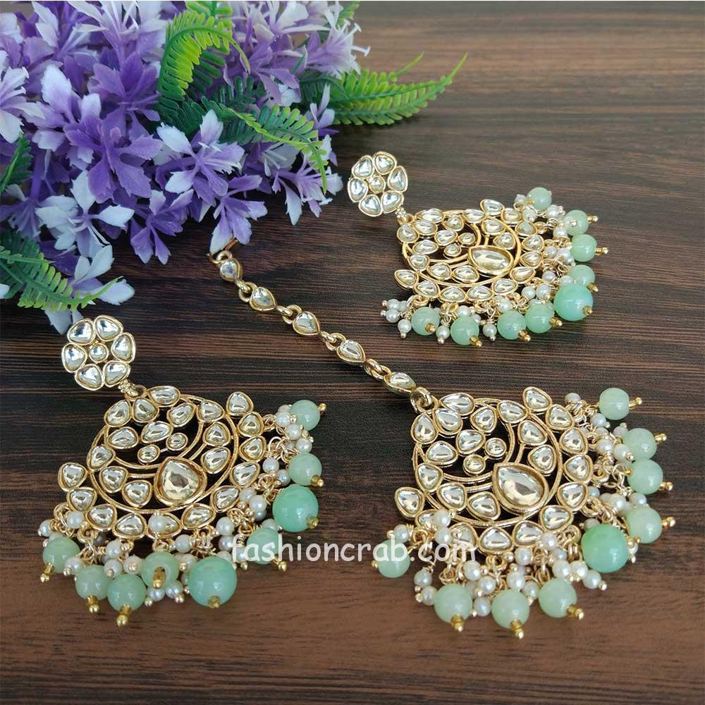 Green scrunchies Sea green set