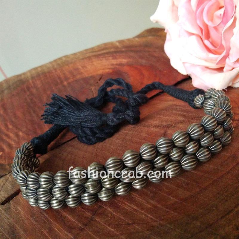Brass Choker Statement Necklace for Saree