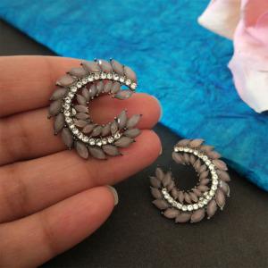 Crystal Stud Earrings Set