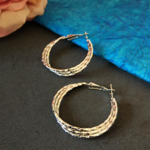 Cute Silver Color Hoop Earring
