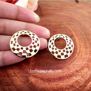 Gold Toned Circular Studs