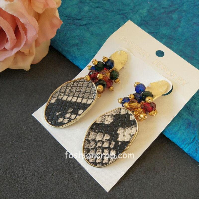 Leopard Print Drop Earrings