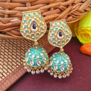Pista Green Partywear Earring for Women