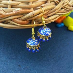 Blue Small Size Jhumka