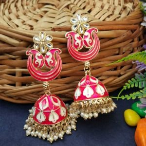 Rani Pink Party Wear Jhumka