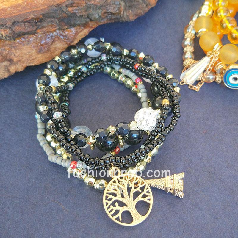 Combo of Black & Yellow Bracelet for Girls
