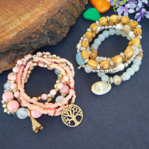 Combo of Peach & Yellow Bracelet for Girls