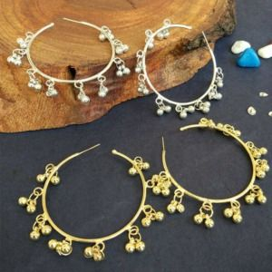 Ghungroo Hoop Earrings for Girls