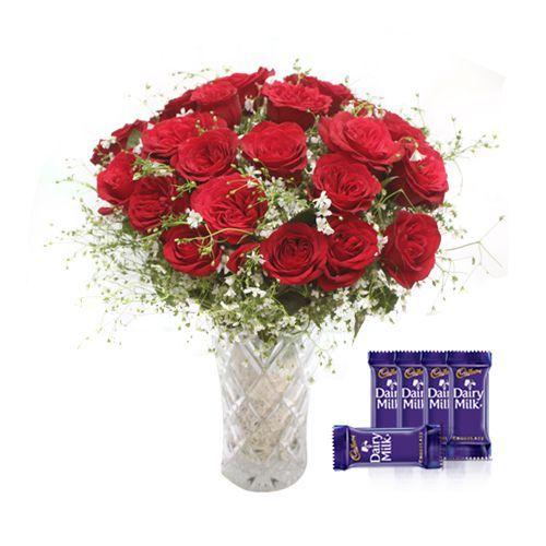 Rose Vase Combo