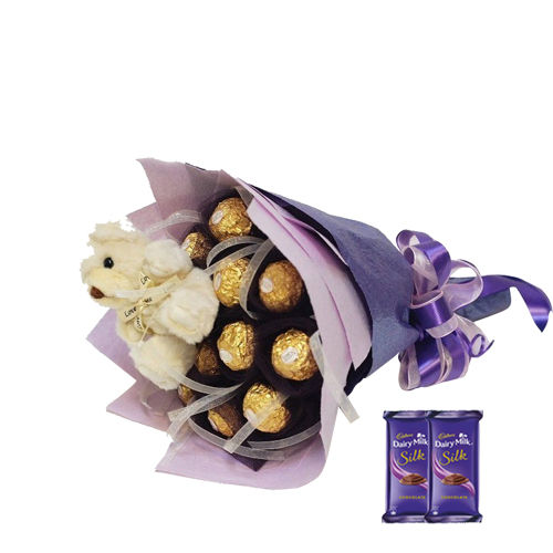 Chocolate Bouquet 9 - Silk
