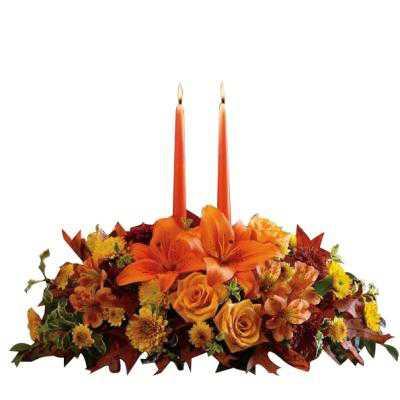 Candlelit Flower Bouquet