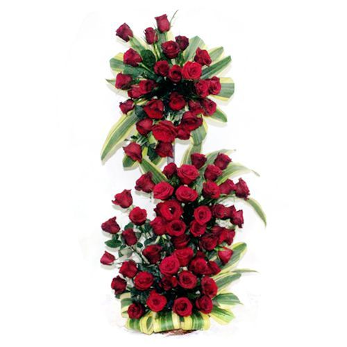 3 Feet Tall Arrangement of Red Roses