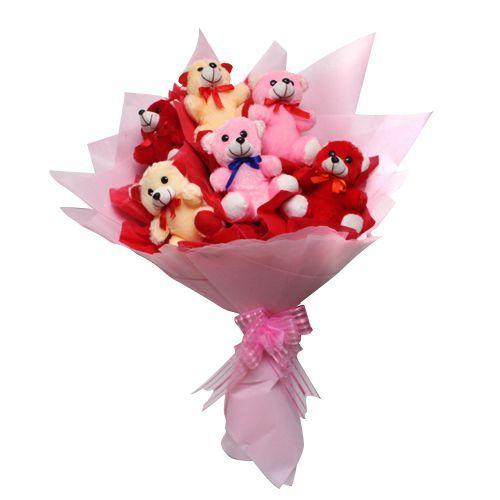 6 Teddy Bouquet