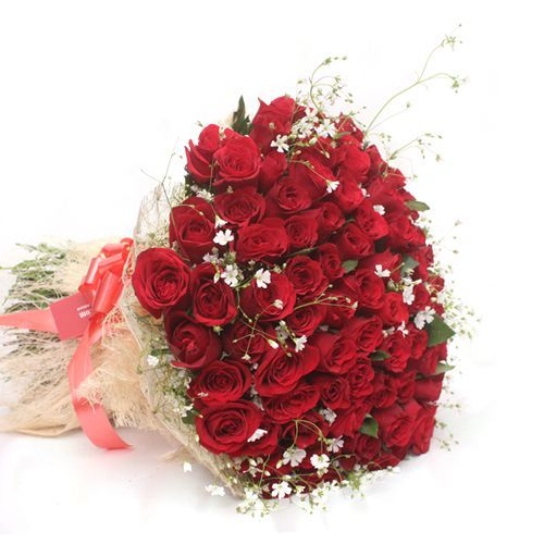 A Silver Jublee Collection Of Roses - In Jute Wrap