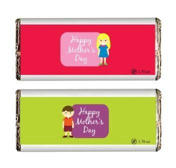 Smiling Mother's Day Chocolate bar