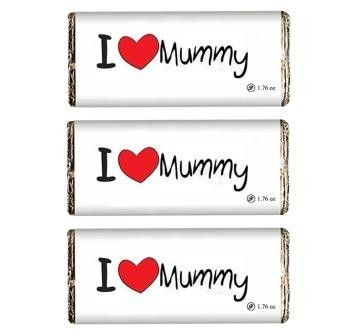 I love Mummy Chocolate bar
