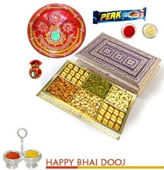 Dryfruit and Chocolates Metal Box on bhaidooj
