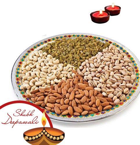 Meenakari Dryfruit Platter