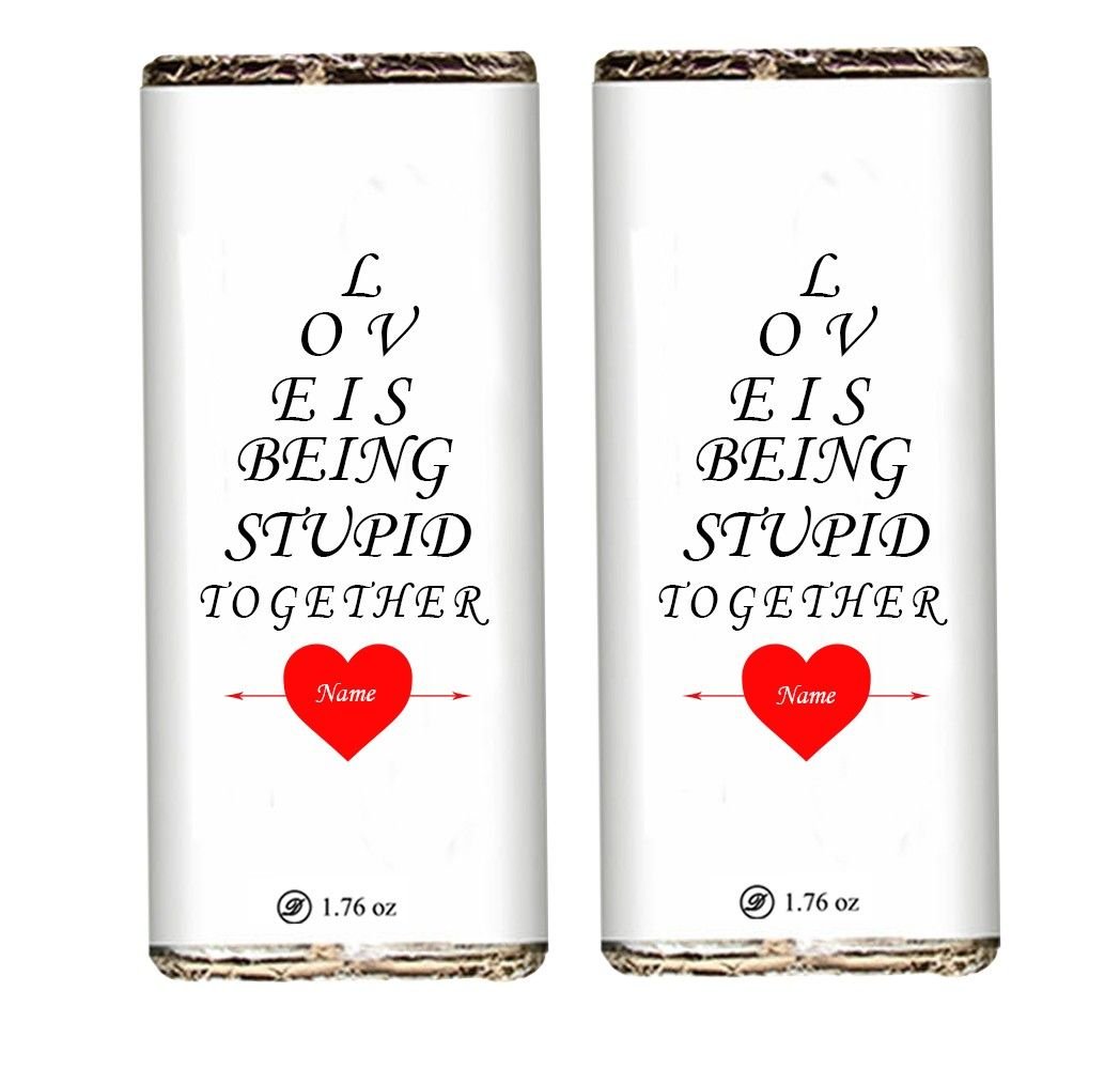 Being Together Valentine Chocolate Bars