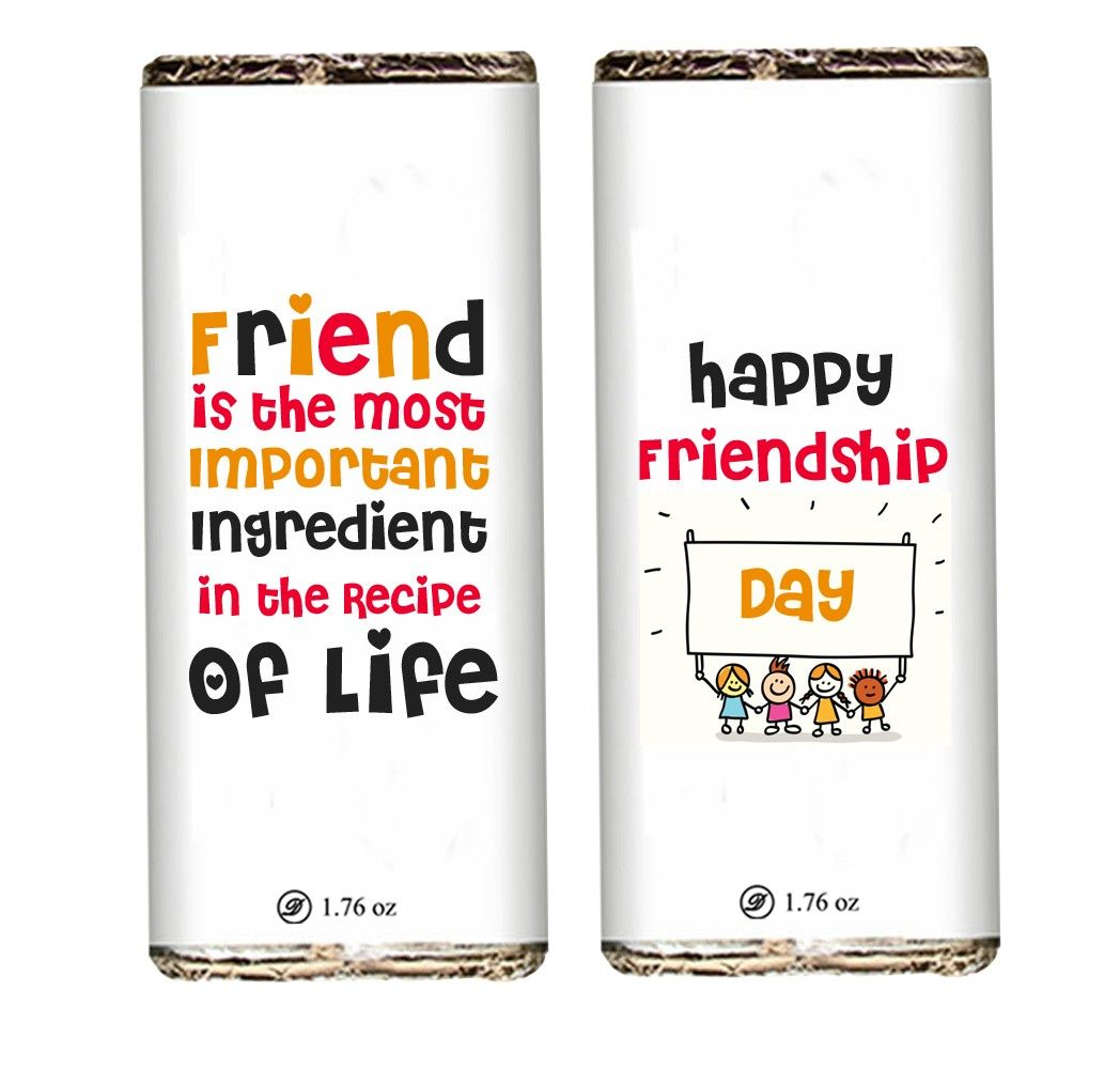 Happy Friendship Day Chocolate Bar