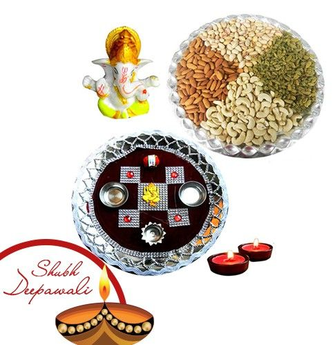 Puja Thali with Dryfruits