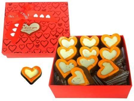 Orange Heart Chocolates on New Year
