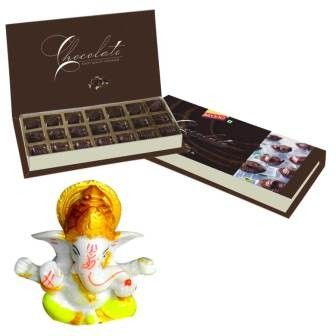 Bikanervala Chocolates with Ganesha Wishes